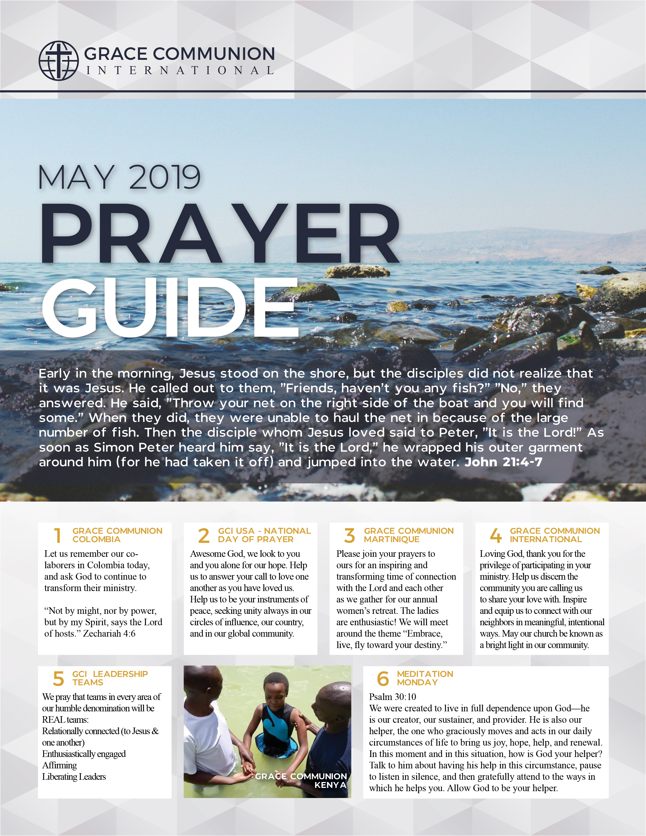 May 2019 Prayer Guide | Grace Communion International Resources